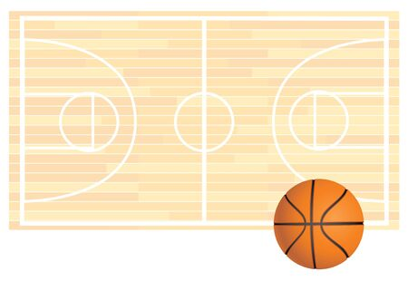 illustration of a basketball field background