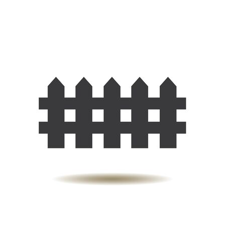 illustration of a fence icon isolated