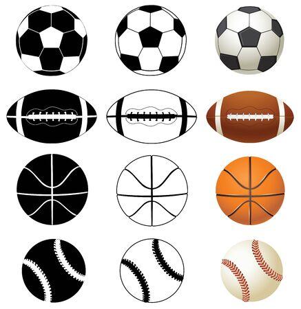 vector illustration of sport balls background