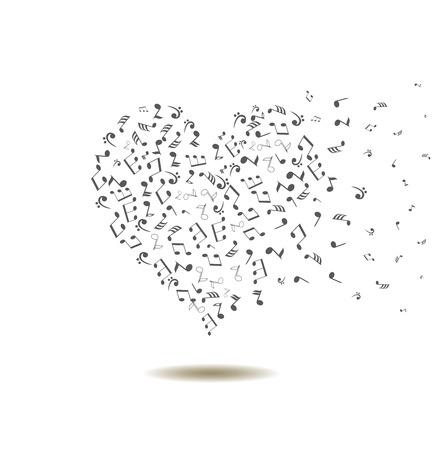 Vektor-Illustration eines musikalischen Herz