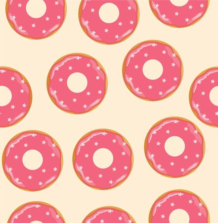 illustration of seamless donuts background