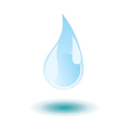 drop water: vector water drop with shadow