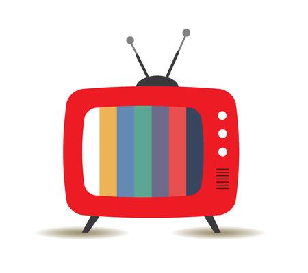 vector retro TV Vettoriali