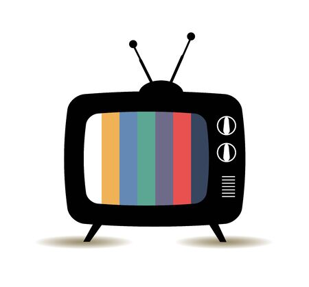 vector illustration of a retro old TV 向量圖像