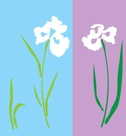silhouette fleur: illustration vectorielle d'une fleur d'iris silhouette