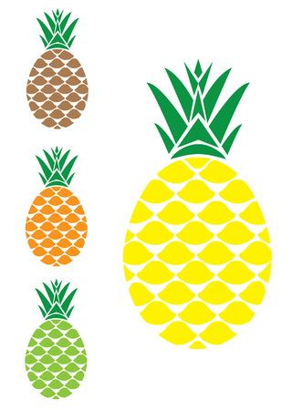 summer diet: vector illustration of a pineapple