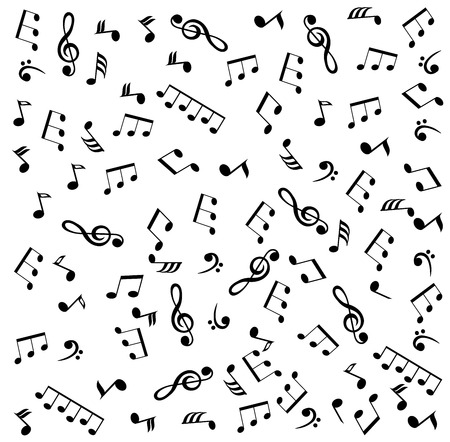vector illustration of a musical note background
