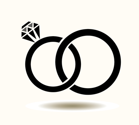 vector illustration of wedding rings background