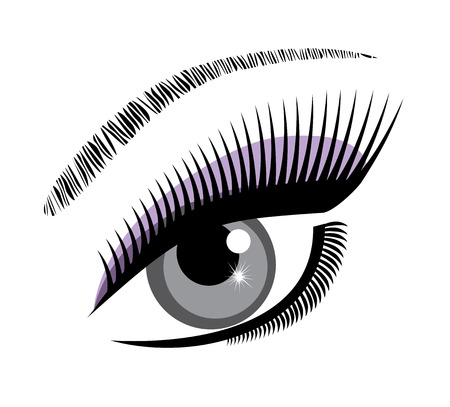 beautiful eye: vector illustration of a beautiful eye with long lashes