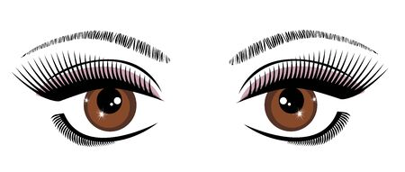 lashes: vector illustration of a beautiful eye with long lashes