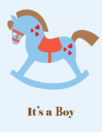 vector illustration of a rocking toy horse Illustration