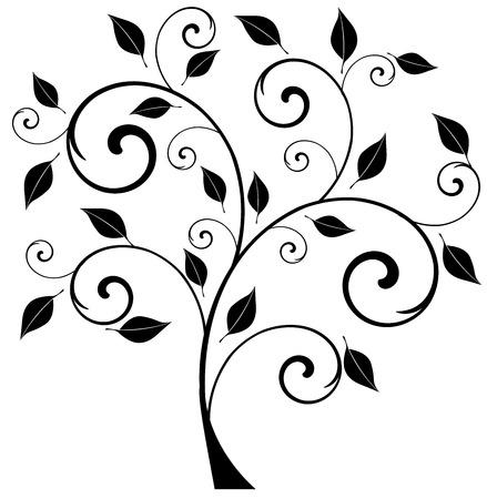 simbolos religiosos: ilustración vectorial de un árbol abstracto