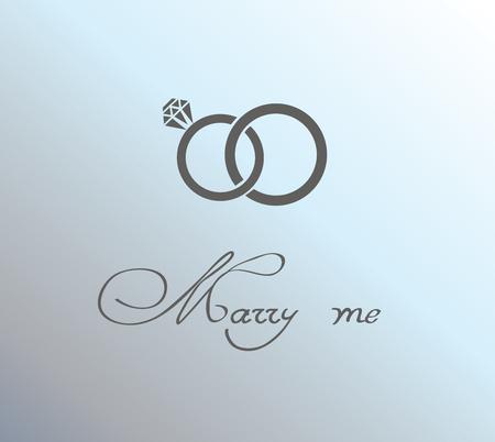vector illustration of a wedding card invitation