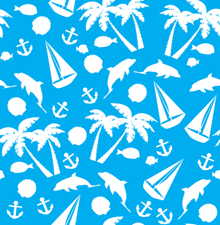 vector illustration of seamless tropical background Illustration