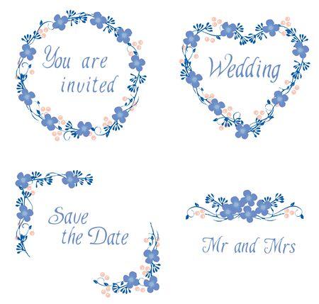 vector illustration of a wedding invitation or bridal shower design card