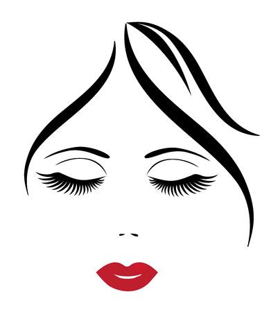 vector afbeelding van een vrouw gezicht met make-up