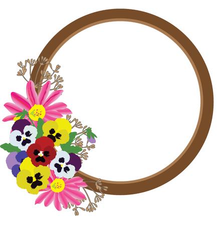 vector illustration of a floral frame background