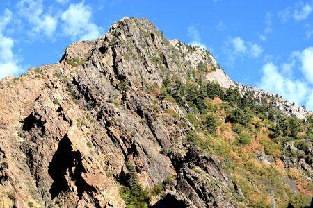 photo of a rocky mountain