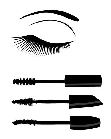 el ejemplo del ojo con las pestañas largas