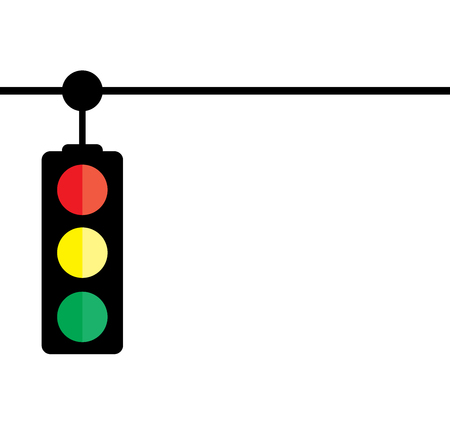 illustration of a traffic light isolated on white background