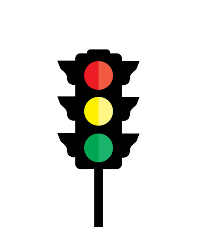 vector illustration of a traffic light isolated on white background