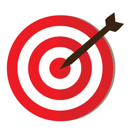 vector illustration of an flat icon target with arrow 矢量图像
