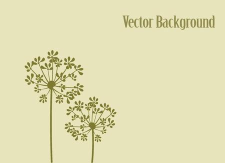 フェンネルの花の背景のベクトル イラスト  イラスト・ベクター素材