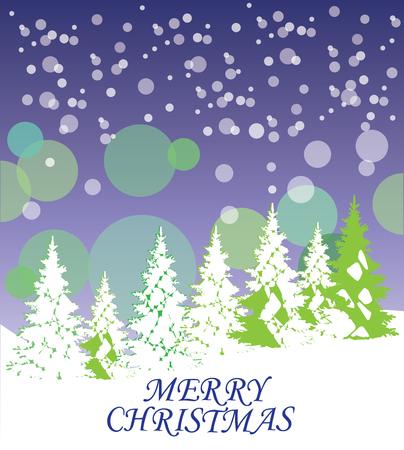木のクリスマス カードのベクトル イラスト  イラスト・ベクター素材