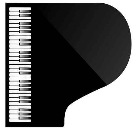vector illustration of a black piano top view Illustration