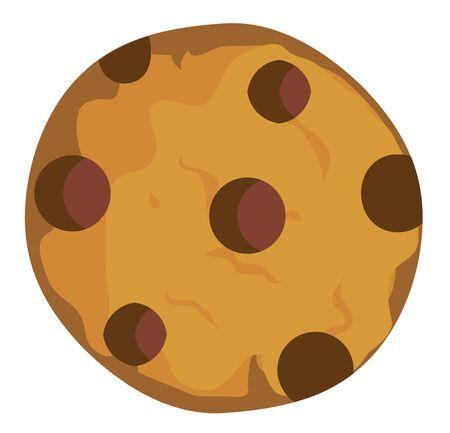 galleta de chocolate: Ilustración vectorial de una galleta de chocolate Vectores