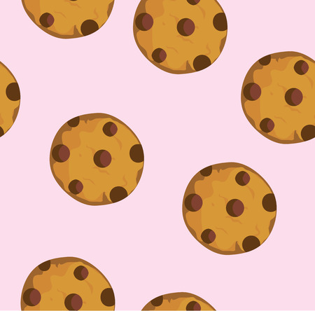 chocolate cookie: Vector illustration of a chocolate chip cookie