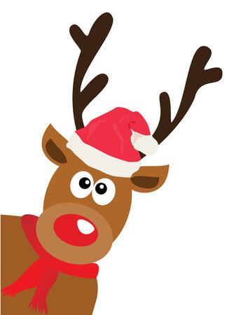 creative beauty: vector illustration of a funny Christmas reindeer Illustration