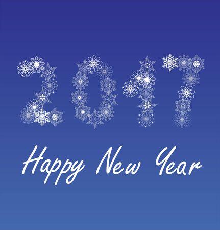 glistening: vector illustration of 2017 new year design Illustration