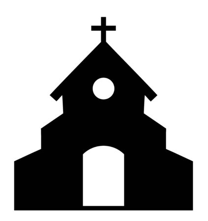 vector illustration of a church icon Christianity concept