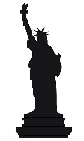 vector illustration of Statue of Liberty 向量圖像
