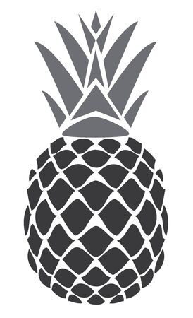 vector pineapple isolated on white Ilustrace