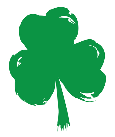 vector illustration of a grunge shamrock irish symbol St. Patric day