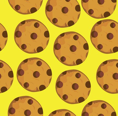 vector illustration of seamless cookies background