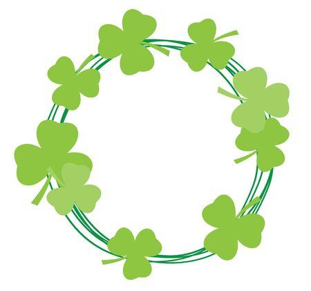 patrick: vector illustration of shamrock frame St. Patrick day