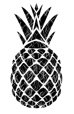 vector illustration of a grunge pineapple isolated on white background Stock fotó - 72169379