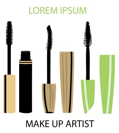 vector illustration of make up artist business cards Illustration