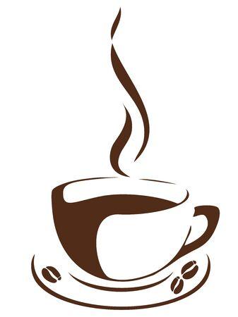 コーヒー豆とコーヒーのカップのベクトル イラスト 写真素材 - 72169539