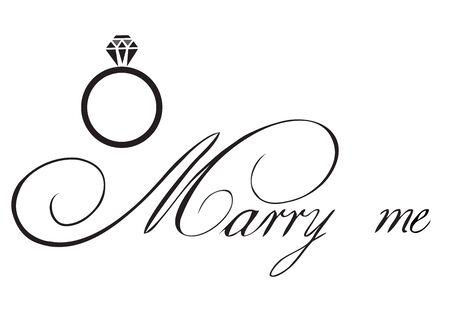 vector illustration of wedding rings marry me card Vektoros illusztráció