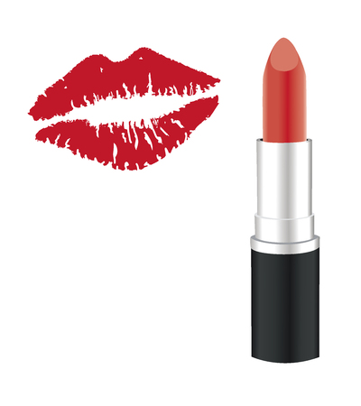 Lipstick mark stock photos royalty free lipstick mark images vector illustration of a lipstick kiss lipstick isolated on white background make up colourmoves Gallery