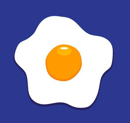 vector illustration of fried egg background, flat icon, fried egg closeup 版權商用圖片 - 79018353