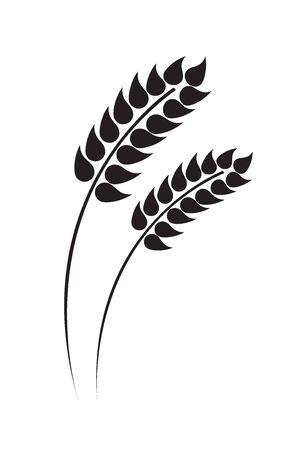 耳の小麦、大麦やライ麦のベクター イラストです。食パンの包装に最適です。ベクトルのアイコン。
