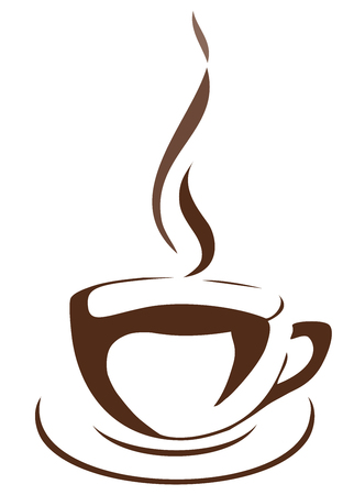 heated: vector illustration of a cup of coffee Illustration