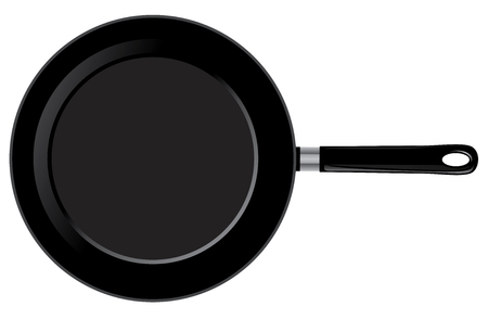 vector illustration of a frying pan