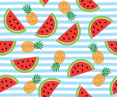vector illustration of seamless watermelon background pattern.
