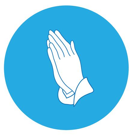 Vektor-Illustration von betenden Händen